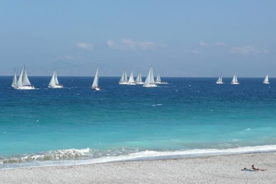 'Global MBA Trophy Yacht Race, off Ixia Beach - Rhodes, 30 April 2011' - Rhodes